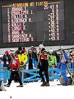 Langrenn<br /> Lahti Finland<br /> 12.03.2011<br /> Foto: Gepa/Digitalsport<br /> NORWAY ONLY<br /> <br /> FIS Weltcup, 10km Verfolgung der Damen. <br /> <br /> Bild zeigt Therese Johaug (NOR), Justyna Kowalczyk (POL) und  Arianna Follis (ITA).