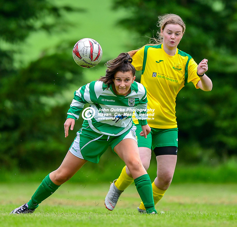 Trim Celtic's Deirbhile Moore, heads away during the Torro United v Trim Celtic Womens league match at Powderly Park.<br /> <br /> Photo: GERRY SHANAHAN-WWW.QUIRKE.IE<br /> <br /> 09-08-2020