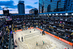 Centercourt during the last day of the beach volleyball event King of the Court at Jaarbeursplein on September 12, 2020 in Utrecht.