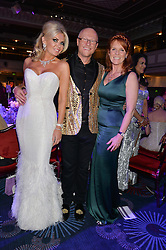 JOHN & CLAIRE CAUDWELL and SARAH, DUCHESS OF YORK at The Butterfly Ball in aid of Caudwell Children held at the Grosvenor House, Park Lane, London on 25th June 2015