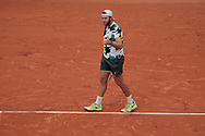 Jack Sock (USA) reacted during the Roland Garros 2020, Grand Slam tennis tournament, on September 30, 2020 at Roland Garros stadium in Paris, France - Photo Stephane Allaman / ProSportsImages / DPPI