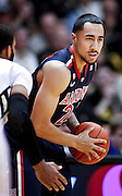 SHOT 1/21/12 5:45:55 PM - Arizona's Brendon Lavender #24 looks to pass during their PAC 12 regular season men's basketball game against Colorado at the Coors Events Center in Boulder, Co. Colorado won the game 64-63..(Photo by Marc Piscotty / © 2012)