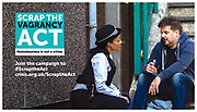 Scrap The Vagrancy Act campaign shot for Crisis | May 2019
