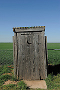 """Outdoor bathroom """"outhouse"""" in central Oklahoma"""