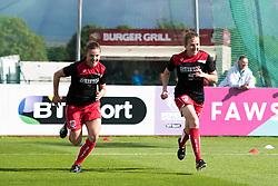 Loren Dykes and Frankie Brown of Bristol City Women during warm-up - Mandatory by-line: Paul Knight/JMP - 20/05/2017 - FOOTBALL - Stoke Gifford Stadium - Bristol, England - Bristol City Women v Liverpool Ladies - FA Women's Super League Spring Series