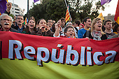Spain - Republic Protest in Barcelona