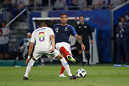Corentin Tolisso of France and Joe Corona of USA during the 2018 Friendly Game football match between France and USA on June 9, 2018 at Groupama stadium in Decines-Charpieu near Lyon, France - Photo Romain Biard / Isports / ProSportsImages / DPPI