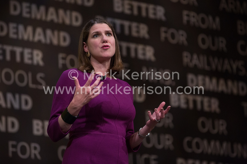 Bournemouth, UK. 15 September, 2019. Jo Swinson, Leader of the Liberal Democrats, answers questions from the floor during the Liberal Democrat Autumn Conference. Credit: Mark Kerrison/Alamy Live News