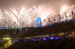Fireworks are set off during the opening ceremony of the PyeongChang 2018 Winter Paralympics at the PyeongChang Olympic Stadium in South Korea.