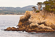 Rocky cliff along the Cypress Grove Trail, Point Lobos State Reserve, Carmel, California