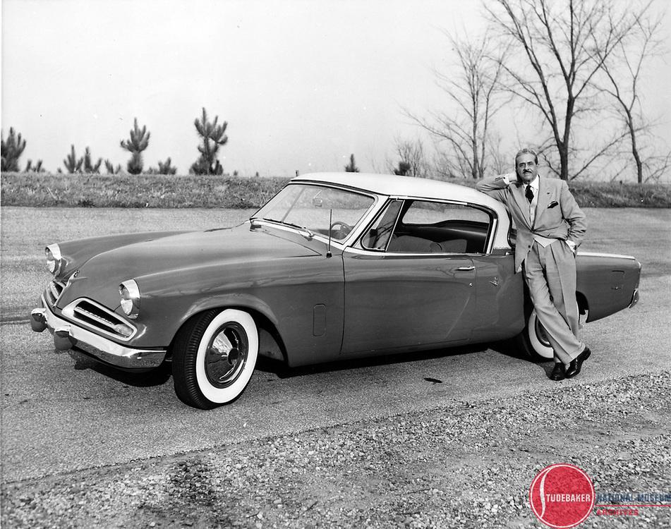 1953 Studebaker Commander Starliner Hardtop with Designer Raymond Loewy.