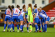 Reading prepare during the FA Women's Super League match between Manchester United Women and Reading LFC at Leigh Sports Village, Leigh, United Kingdom on 7 February 2021.