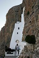 Greece, Amorgos, Cyclades: Monartery of Hosoviotissa. Orthodox monastery dedicated to the Virgin.Monastero ortodosso dedicato alla vergine
