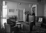 21/07/1958<br /> 07/21/1958<br /> 21 July 1958<br /> Views of Hotel Pierre  in Dun Laoghaire, Dublin. The reception.
