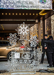 Braving the elements at The Saint Paul Hotel.