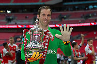 Arsenal's Petr Cech celebrates with the trophy           <br /> <br /> <br /> Photographer Craig Mercer/CameraSport<br /> <br /> The Emirates FA Cup Final - Arsenal v Chelsea - Saturday 27th May 2017 - Wembley Stadium - London<br />  <br /> World Copyright © 2017 CameraSport. All rights reserved. 43 Linden Ave. Countesthorpe. Leicester. England. LE8 5PG - Tel: +44 (0) 116 277 4147 - admin@camerasport.com - www.camerasport.com