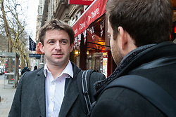 Construction project manager William, 34, a scotsman, talks with Bild journalist Philip Fabian about Brexit in London. London, January 16 2019.