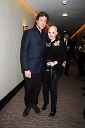 GAIL PORTER and JAMES LLOYD at the 2008 Costa Book Awards held at the Intercontinental Hotel, Hamilton Place, London on 27th January 2009.