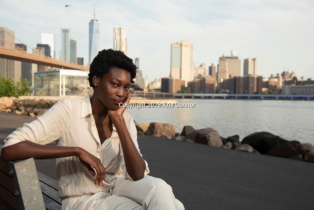 Singer Songwriter Julia Kwamya of GERMANS, Brooklyn, New York on June 9th, 2018. (Photo by Kris Connor