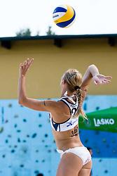Martina Jakob (Gloryfy) at Beachmaster 2010 tournament for Slovenian BeachTour on July 15, 2010, in Ptuj, Slovenia. (Photo by Matic Klansek Velej / Sportida)