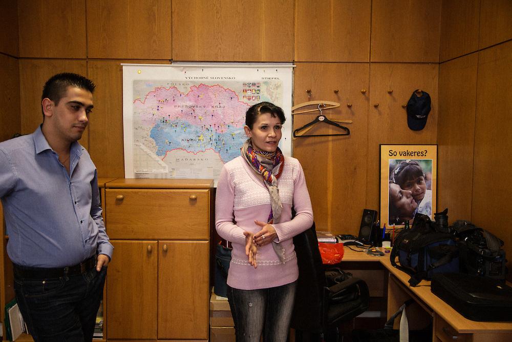 The Roma Media Center in Kosice, Slovakia.