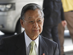 May 25, 2019 - Bangkok, Thailand - Democrat Party advisory chairman and former Prime Minister Chuan Leekpai (R) seen arriving to attend a meeting held to vote for a new Speaker of the House of Representatives of Parliament, at the TOT Plc' auditorium in Bangkok. (Credit Image: © Chaiwat Subprasom/SOPA Images via ZUMA Wire)