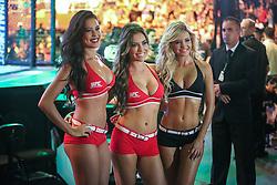 Octagon Girls Camila Oliveira, Luciana Andrade e Jhenny Andrade no UFC Porto Alegre, na arena Gigantinho. FOTO: Jefferson Bernardes/ Inovafoto
