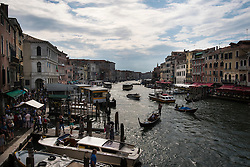 Looking south-west along the Grand Canal from the Ponte di Rialto, Venice, Italy.<br /> Photo: Ed Maynard<br /> 07976 239803<br /> www.edmaynard.com