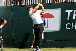 June 21, 2018 - Cromwell, CT, U.S. - CROMWELL, CT - JUNE 21: Brooks Koepka of the United States hits from the 1st tee during the First Round of the Travelers Championship on June 21, 2018, at TPC River Highlands in Cromwell, Connecticut. (Photo by Fred Kfoury III/Icon Sportswire) (Credit Image: © Fred Kfoury Iii/Icon SMI via ZUMA Press)