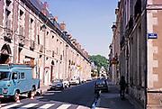 Grande Rue and Porte de Chinon, Richelieu, Indre-et-Loire, France 1976