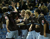 Photo: Paul Thomas/Sportsbeat Images.<br /> Leeds United v Bury FC. Johnstone's Paint Trophy. 13/11/2007.<br /> <br /> Andy Bishop (10) and Bury celebrate his goal as they take the lead 2-1.