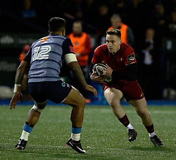 Munster's Rory Scannell<br /> <br /> Photographer Simon King/Replay Images<br /> <br /> Guinness PRO14 Round 15 - Cardiff Blues v Munster - Saturday 17th February 2018 - Cardiff Arms Park - Cardiff<br /> <br /> World Copyright © Replay Images . All rights reserved. info@replayimages.co.uk - http://replayimages.co.uk