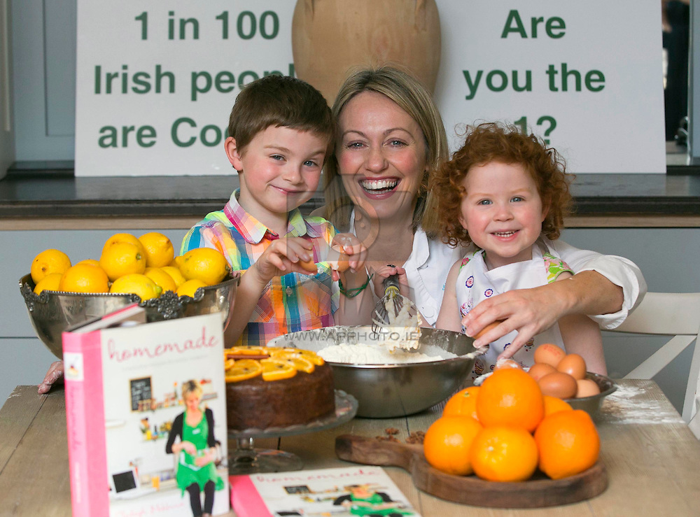 Repro Free: Pearse and Serena Conway are pictured helping well known chef Clodagh McKenna in lending her support to Coeliac Awareness Week, a public awareness campaign taking place from 12 to 19 May to promote better awareness and understanding of coeliac disease and those affected by it. <br /> Coeliac Awareness Week, which is being run by the Coeliac Society of Ireland, will focus heavily on diagnosis of the disease, particularly in children.<br /> Coeliac disease affects 1 in every 100 people in Ireland and it is estimated that around 45,000 Irish people could be coeliac, many of which are, as yet, undiagnosed. The disease causes some adults and children to react to a protein called gluten, which is found in wheat, barley and rye. <br /> As part of Coeliac Awareness Week, Clodagh will be hosting a Gluten-Free cooking master-class at her restaurant 'Clodagh's Kitchen' in Arnotts where she will be preparing her favourite coeliac friendly dishes as well as offering advice on how to cook tasty meals for family members, friends or children who are coeliac. Picture Andres Poveda<br /> <br /> <br /> <br /> For further information or to arrange an interview, please contact:<br /> Breda Brown / Niall McHugh<br /> Unique Media<br /> Tel: (01) 522 5200 or (087) 2487120<br /> Email:  bredabrown@uniquemedia.ie/ niallmchugh@uniquemedia.ie