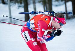 Tarjei Boe (NOR) during Men 12,5 km Pursuit at day 3 of IBU Biathlon World Cup 2015/16 Pokljuka, on December 19, 2015 in Rudno polje, Pokljuka, Slovenia. Photo by Vid Ponikvar / Sportida