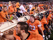 Sept. 3, 2011 - Charlottesville, Virginia - USA; Virginia Cavaliers celebrate with fans after an NCAA football game against William & Mary at Scott Stadium. Virginia won 40-3. (Credit Image: © Andrew Shurtleff