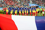Team of France during anthems before the 2018 FIFA World Cup Russia, Semi Final football match between France and Belgium on July 10, 2018 at Saint Petersburg Stadium in Saint Petersburg, Russia - Photo Thiago Bernardes / FramePhoto / ProSportsImages / DPPI
