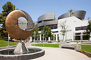 Cerritos Millennium Library and Tsunami Copper Sculpture