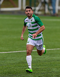 OSWESTRY, ENGLAND - Thursday, August 27, 2020: The New Saints' Louis Robles during the UEFA Europa League First Qualifying Round match between The New Saints FC and MŠK Žilina at Park Hall. (Pic by Propaganda)