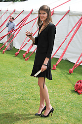 PRINCESS FLORENCE VON PREUSSEN at the Cartier Queen's Cup Polo Final, Guards Polo Club, Windsor Great Park, Berkshire, on 17th June 2012.