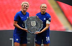 Chelsea Women pose with the FA Women's Community Shield after beating Manchester City Women 2-0 - Mandatory by-line: Nizaam Jones/JMP - 29/08/2020 - FOOTBALL - Wembley Stadium - London, England - Chelsea v Manchester City - FA Women's Community Shield