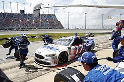 July 1, 2018 - Joliet, Illinois, United States of America - Ricky Stenhouse, Jr (17) comes down pit road for service during the Overton's 400 at Chicagoland Speedway in Joliet, Illinois  (Credit Image: © Justin R. Noe Asp Inc/ASP via ZUMA Wire)