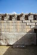 The Principal Temple in Machu Picchu, Cusco Region, Urubamba Province, Machupicchu District in Peru, South America
