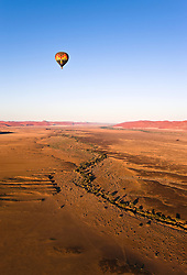 July 21, 2019 - Hot Air Balloon, Namib-Naukluft National Park, Namibia, Africa (Credit Image: © Carson Ganci/Design Pics via ZUMA Wire)