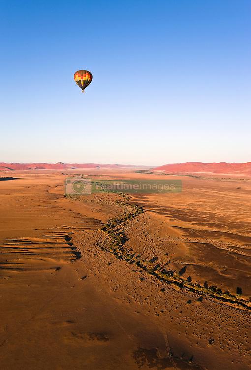July 21, 2019 - Hot Air Balloon, Namib-Naukluft National Park, Namibia, Africa (Credit Image: © Carson Ganci/Design Pics via ZUMA Wire)