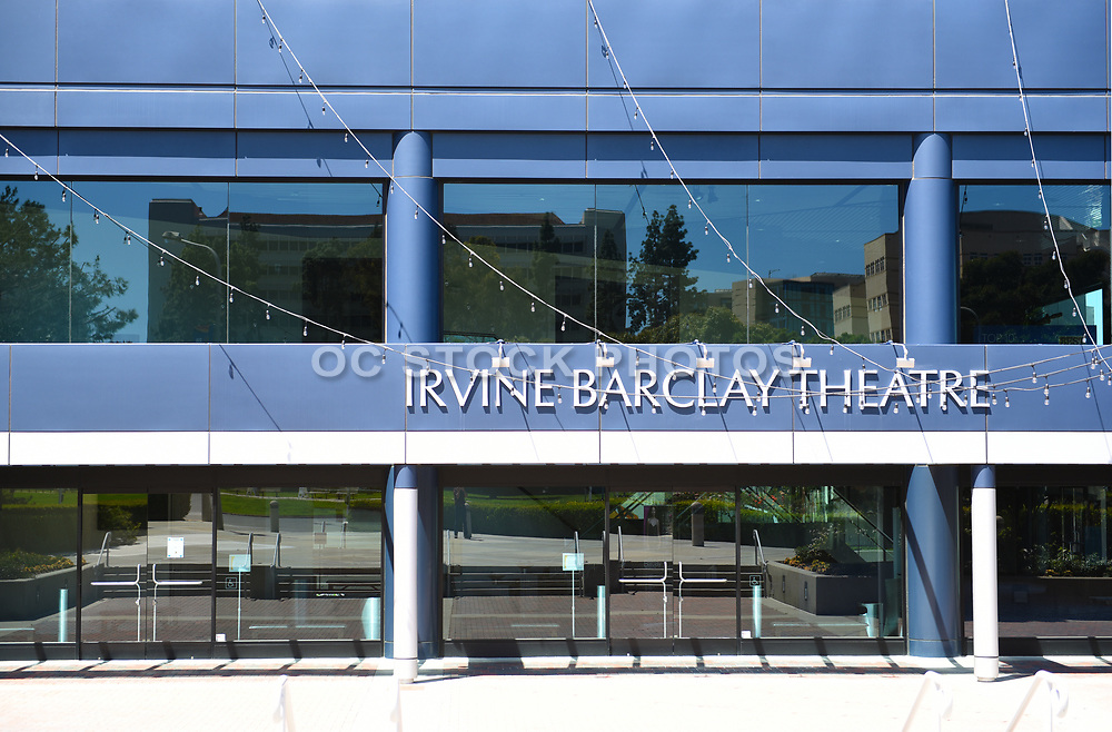 Closeup of the Entrance to the Irvine Barclay Theater on the Campus of the University of California Irvine