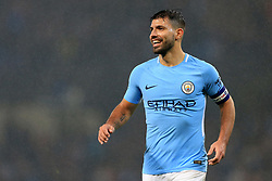 24th October 2017 - Carabao Cup (4th Round) - Manchester City v Wolverhampton Wanderers - Sergio Aguero of Man City smiles as he celebrates victory - Photo: Simon Stacpoole / Offside.