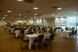 General view as sandy park is setup fr fans to watch the Final - Mandatory by-line: Alex James/JMP - 17/10/2020 - RUGBY - Sandy Park - Exeter, England - Exeter Chiefs Women v Bristol Bears Women - Allianz Premier 15s
