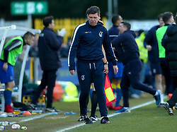 Bristol Rovers manager Darrell Clarke cuts a angry figure after seeing his side concede a late goal to AFC Wimbledon - Mandatory by-line: Robbie Stephenson/JMP - 17/02/2018 - FOOTBALL - Cherry Red Records Stadium - Kingston upon Thames, England - AFC Wimbledon v Bristol Rovers - Sky Bet League One