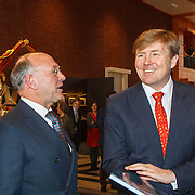 NLD/Den Haag/20150316 - Koning Willem - Alexander onthult gerestaureerde glazen koets<br /> <br /> King Willem-Alexander unveils restored glass carriage<br /> <br /> Op de foto: Koning Willem - Alexnader neemt boek in ontvangst