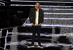 Michael Phelps on stage during the show at the MTV Video Music Awards 2016, Madison Square Garden, New York City.